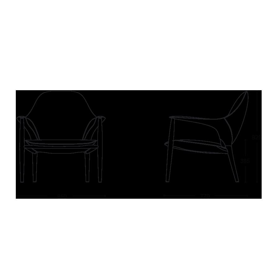 KUNST 1 Seater Sofa size
