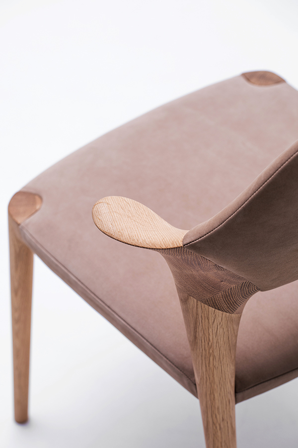 KUNST short arm dining chair. By Karimoku