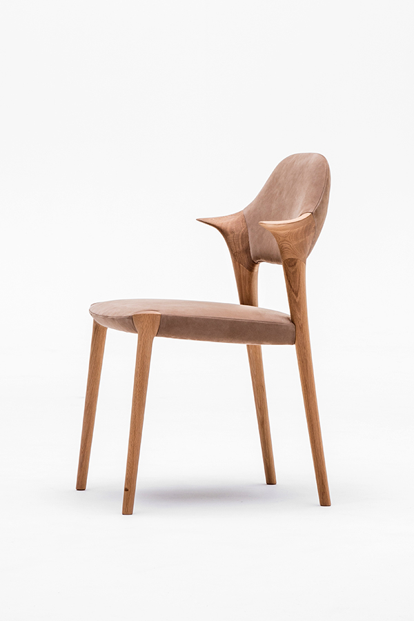KUNST short arm dining chair