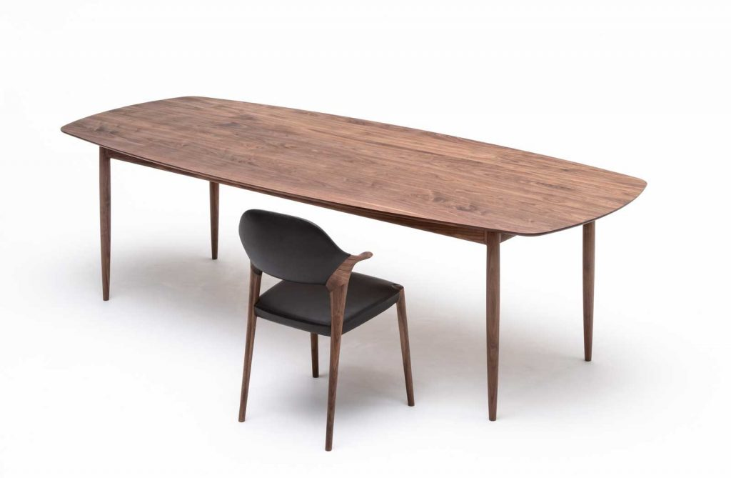 KUNST_Diningchair_shortarm+SOLID-Diningtable(w2600)