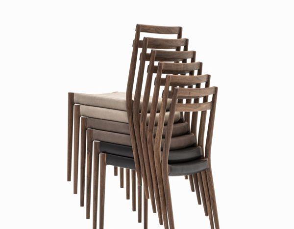 KUNST Cervo Stacking chair, Walnut (oiled)
